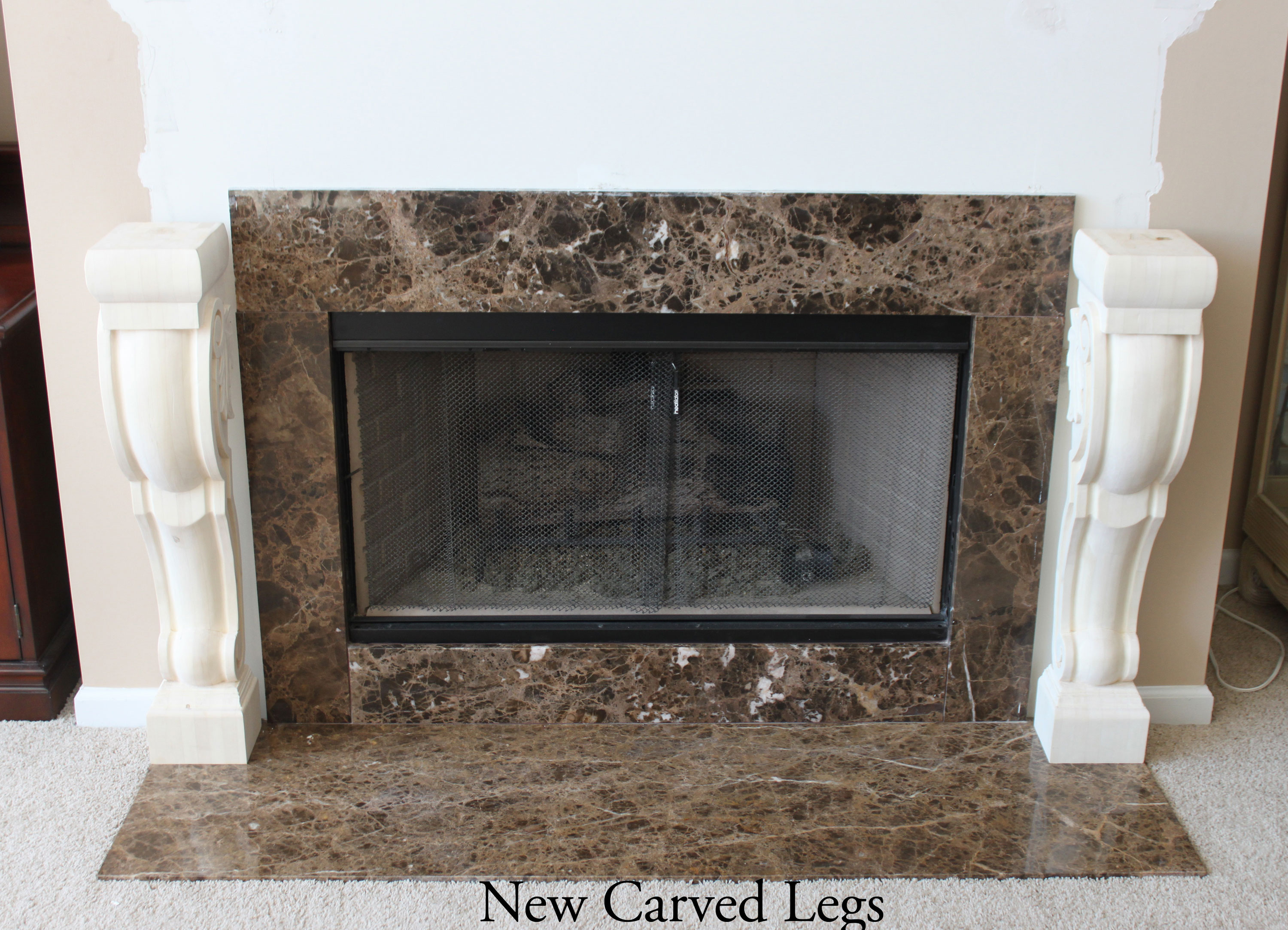 Fireplace Surround Carved Corbels Architectural Depot