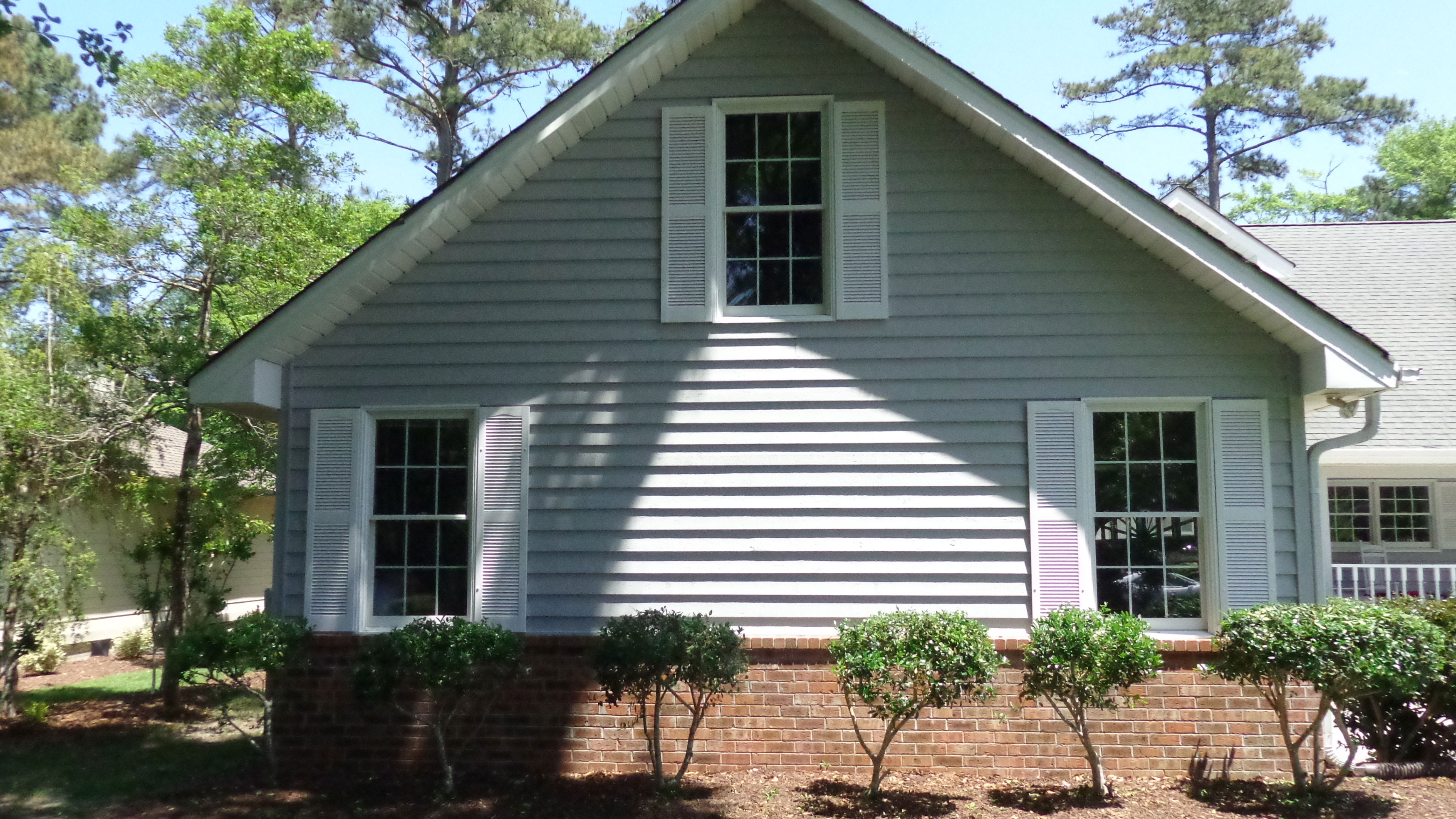 Vinyl louver shutters project pictures architectural depot Cost to install exterior vinyl shutters