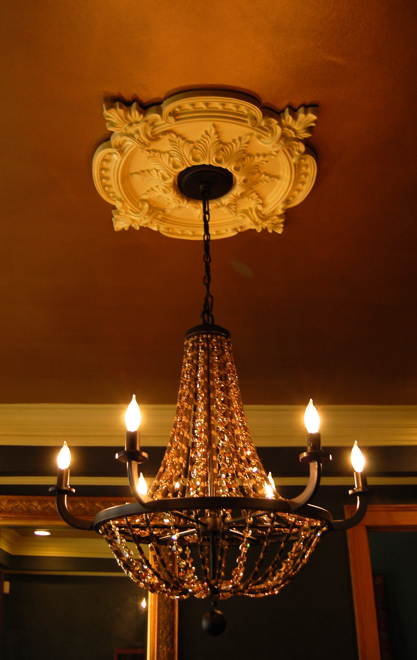 How To Install A Decorative Ceiling Medallion | Horror ...