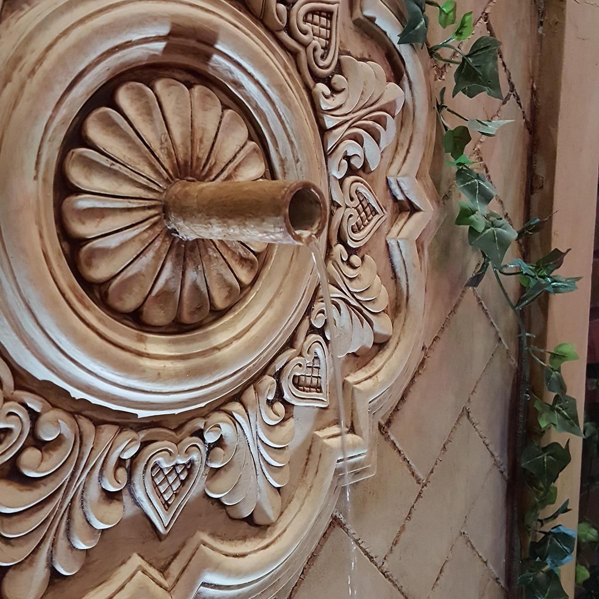 Deria Ceiling Medallion For Wall Fountain Architectural