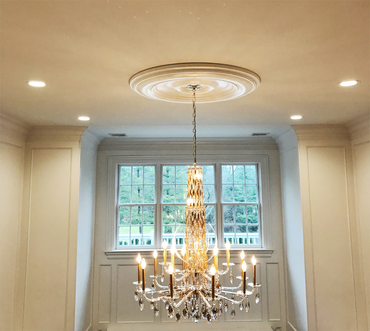 Ekena Millwork Classic Ceiling Medallion On High Ceiling