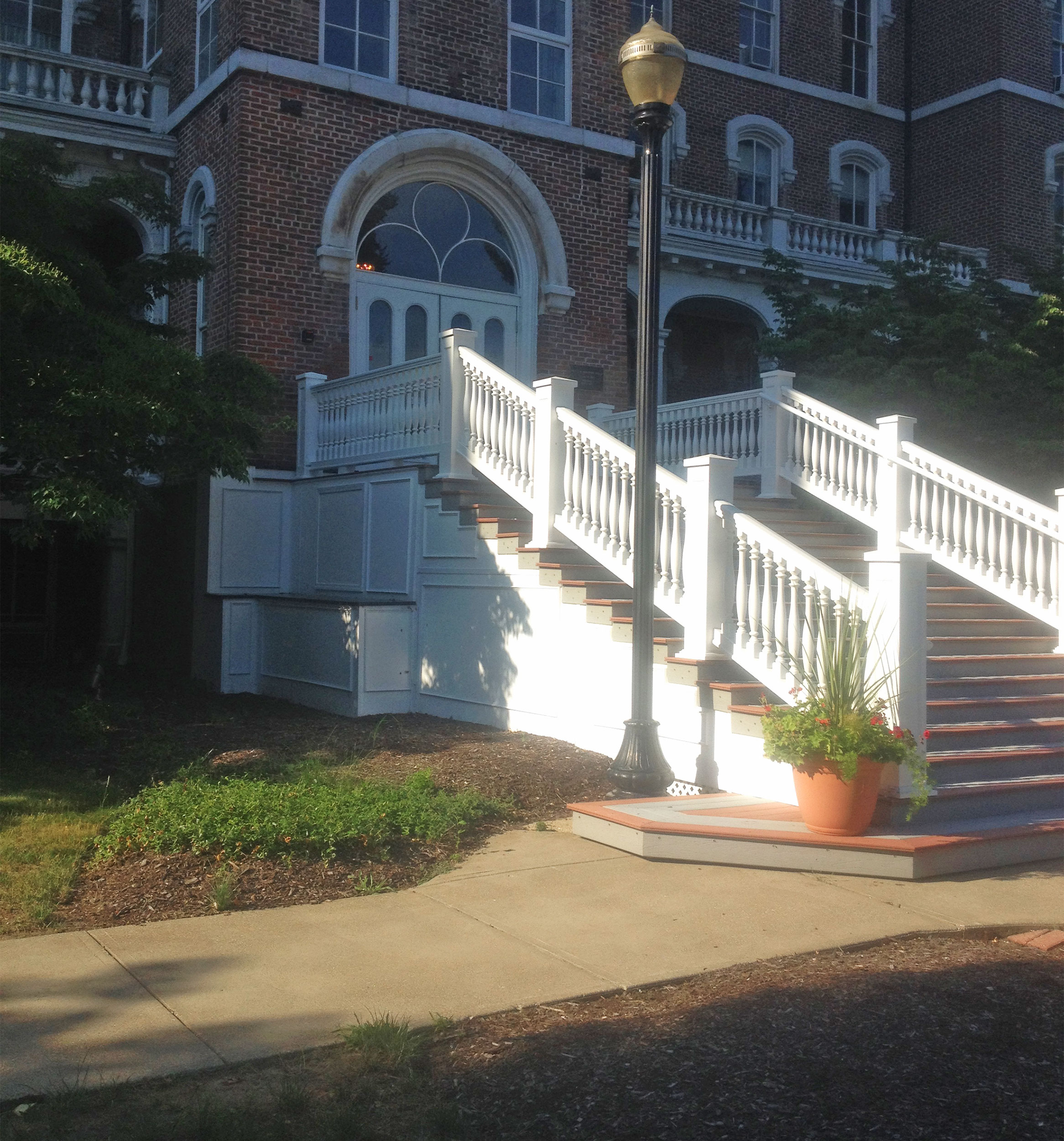 Urethane Railing For Stairs At Lake Erie College
