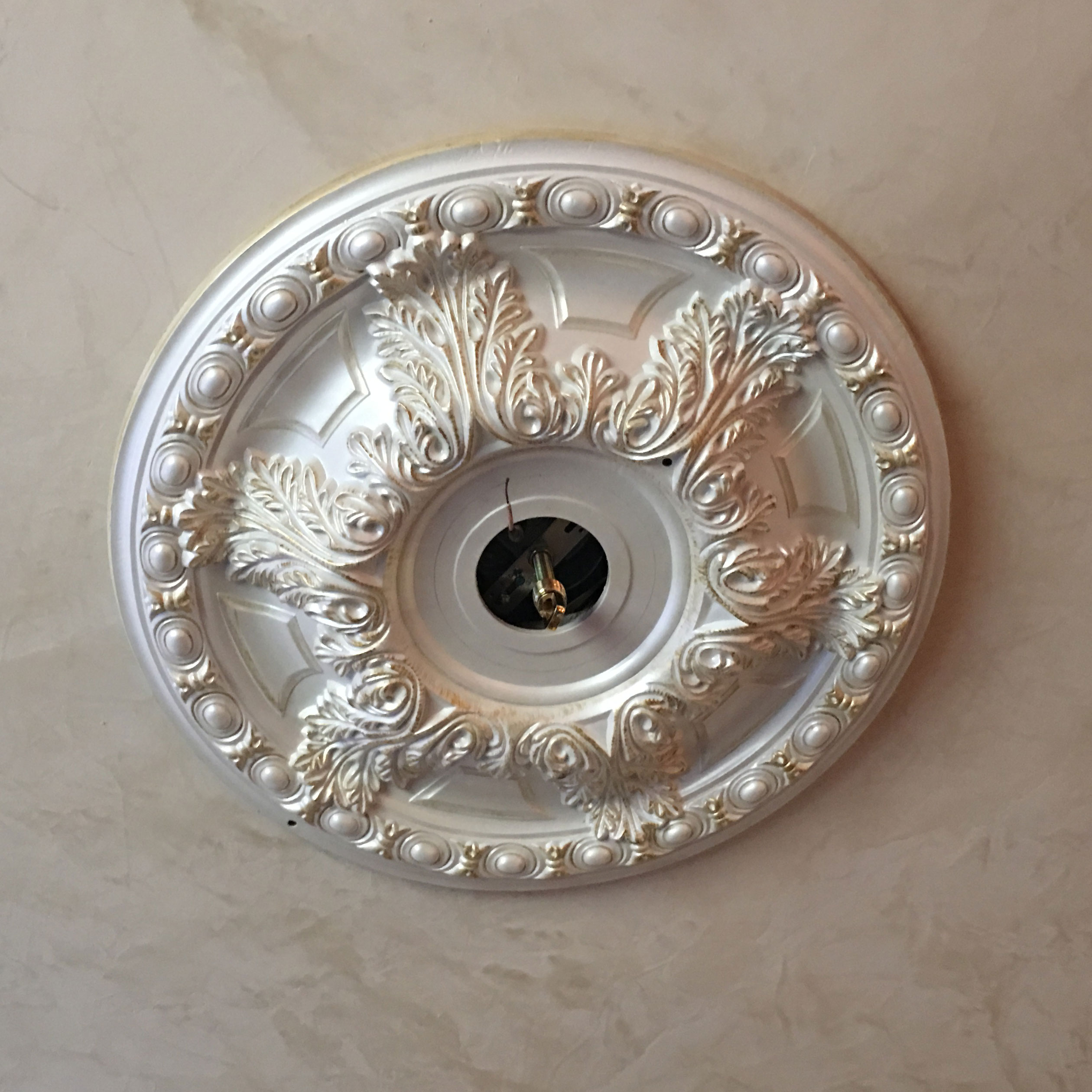 medallion ceiling g american products brass mirror