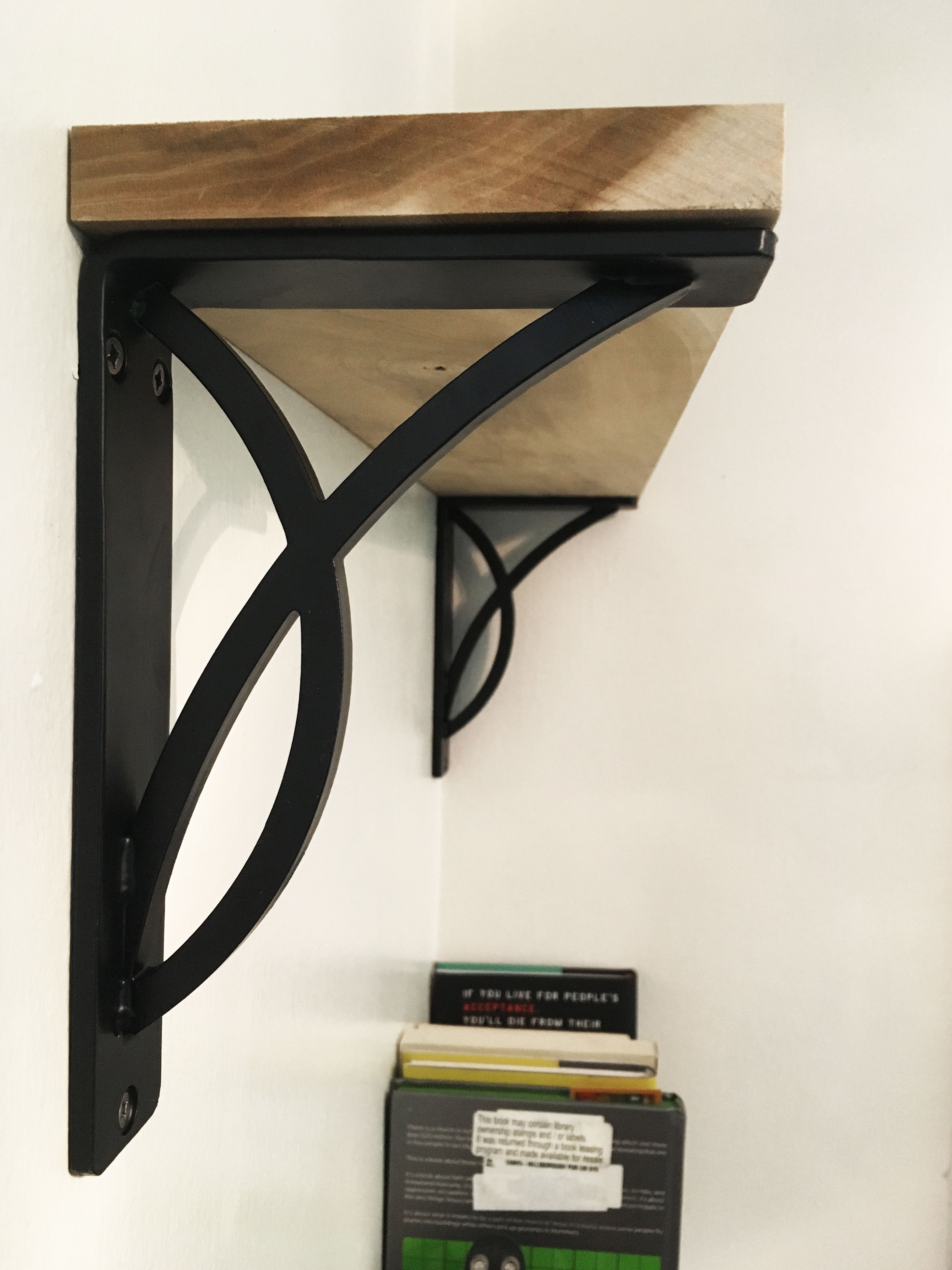 ekena millwork miller brackets for bookshelves
