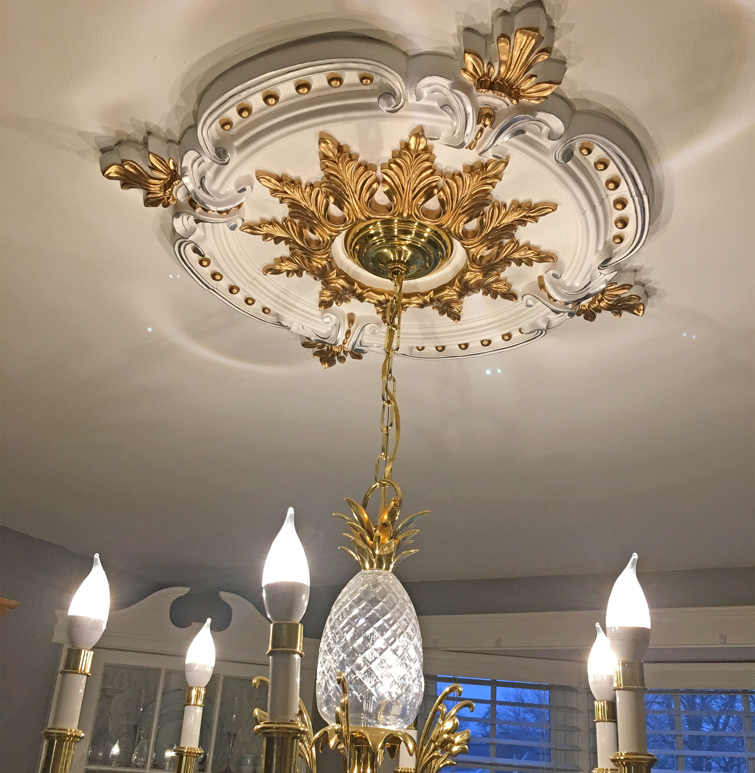ekena medallions project ceiling painted light medallion with ashley millwork pictures fixture