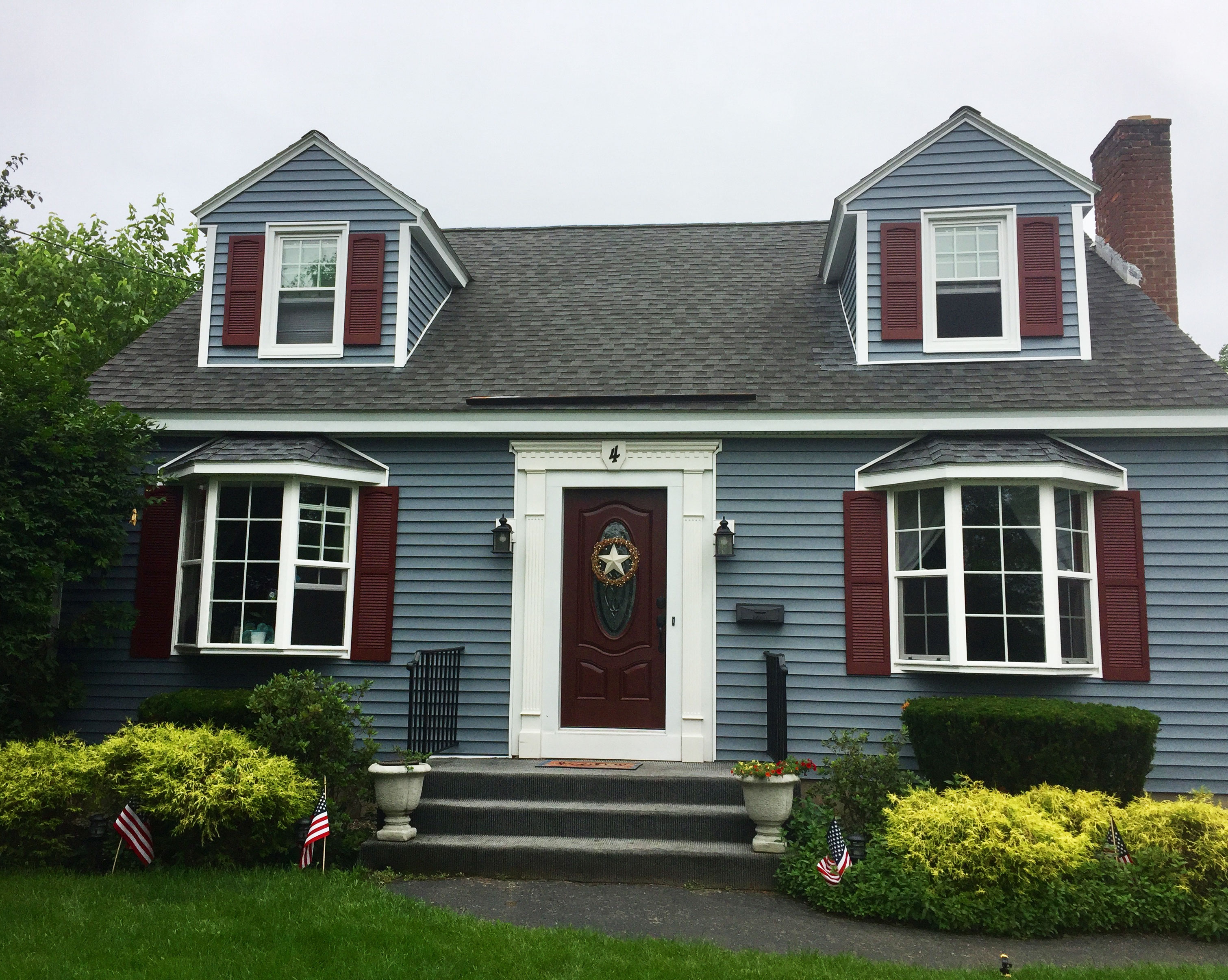 Cranberry Shutters On Home In New York Architectural Depot