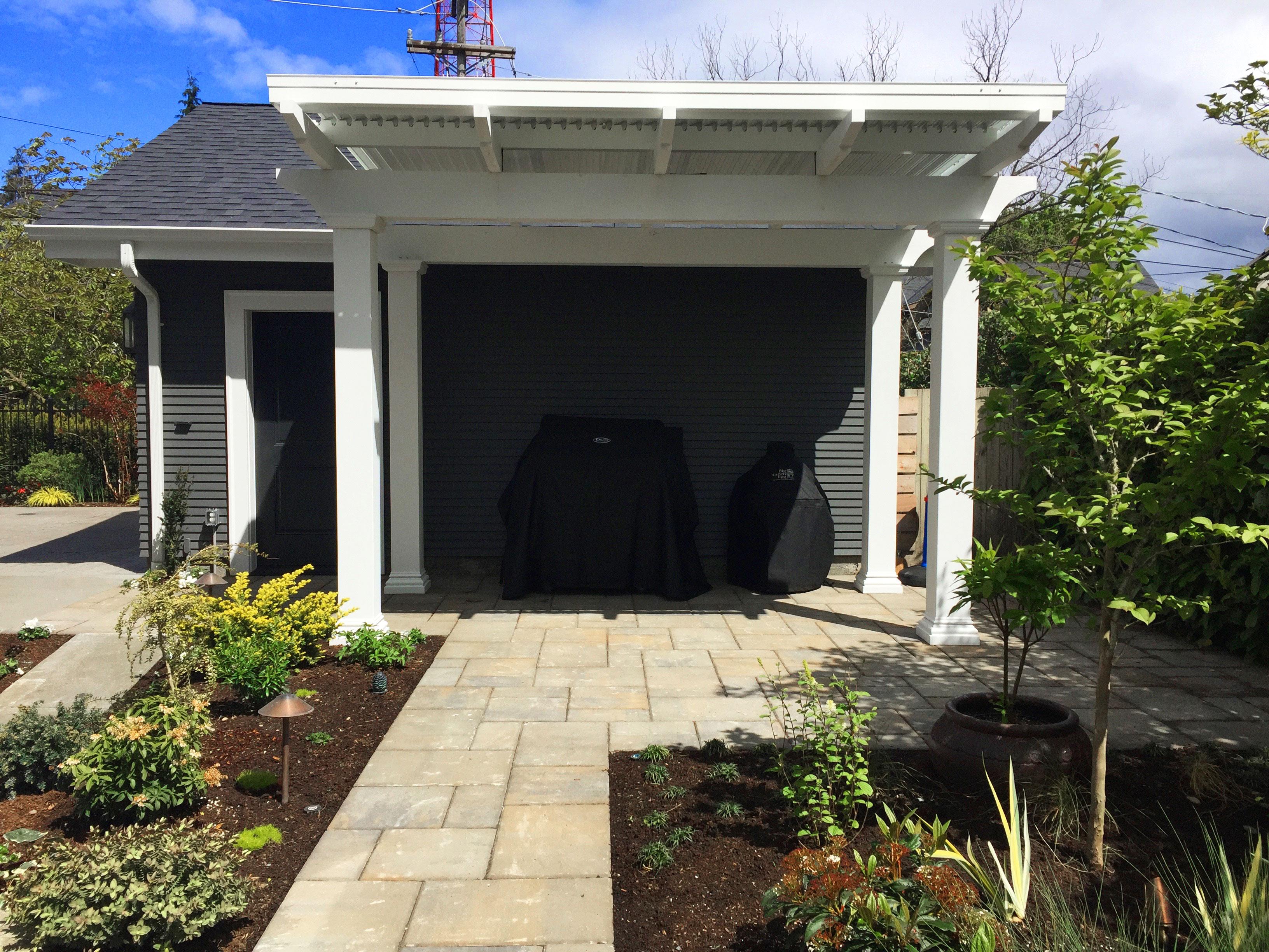 Exterior endurastone square columns for backyard for Architectural columns exterior
